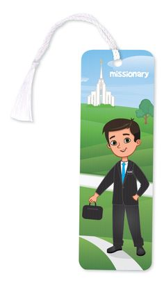 Boy to Missionary 3D Bookmark. This bookmark changes from a boy ready for baptism to a missionary. Great baptism gift.