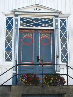 Beautiful door in Lillesand, Norway