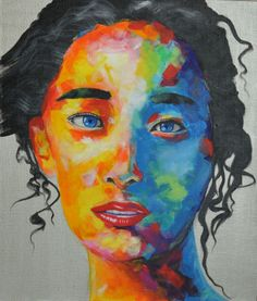 ilya konyukhov #art #popart #modern art #modernart #pop art #portrait #colorful #girl