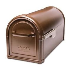 Architectural Mailboxes Hillsborough Post Mount Mailbox Copper 5593C-CG-10 at The Home Depot - Mobile - $70