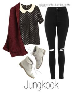 """Coffee Date (Winter) // Jungkook"" by suga-infires ❤ liked on Polyvore featuring Topshop and Madewell"