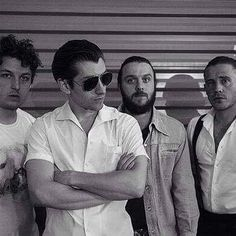 Maybe Matts shirt is why his @ is cautioushorse #am #arcticmonkeys #jamiecook…