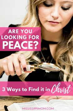 We all long for peace, but how can we find it?  3 Ways to Find Peace in Christ | Peace with God | Peaceful Relationships Christian Marriage, Christian Women, Christian Living, Christian Life, Finding Love, Finding Peace, Finding Purpose, Sisters In Christ, Spiritual Growth