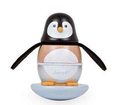 Dětská dřevěná skládačka Janod Zigolos - houpací tučňák