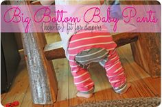 We've all been there {at least if you've done any sewing for babies}… you make some pants or shorts, go to put them on your child… and DIAPER! Yikes! hanging out inches above your pants… it's not pretty {ha!}I know the kids don't care, but I do! Sometimes you just add more to the top …