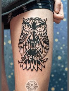 Pics Photos - Funny Owl Tattoo Best Tattoo Design Ideas