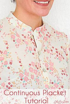 How to make a continuous placket - Melly Sews continuous placket tutorial #sewing