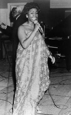 Celia Cruz during a performance in Madrid, Spain on September 5th, 1979.