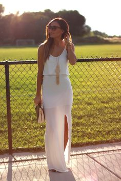 CLASSIC WHITE women fashion clothing style apparel @roressclothes closet ideas