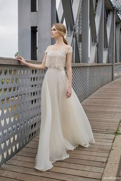 LimorRosen 2015 Wedding Dresses, delicate crop-top wedding gown