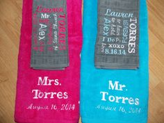 Collage Personalized Bath Towel Set Anniversary by Crafting4Caleb, $75.00