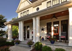 Summer porch living in Naperville, Illinois by Siena Custom Builders
