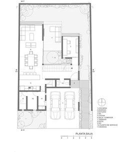 Modern home design Modern House Plans, Small House Plans, Modern House Design, House Floor Plans, Atrium House, Arch House, Courtyard House, Home Building Design, Home Design Plans