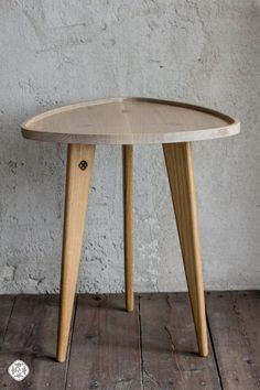 Oak Table TRIPOD Sofa Table Wood Working by ProjektCacko on Etsy