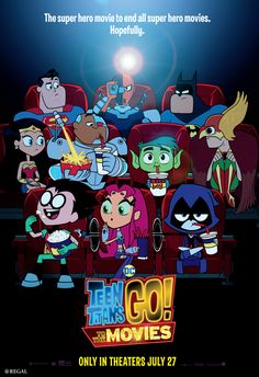 Teen Titans Go! It was funny at times and a fun kids movie. Not as good as the cartoon. It might be hard for some adults to watch the whole movie. It gets boring. 2018 Teen Titans Go! To the Movies - C Movies Nightwing, Warner Bros Animation, Aquaman, Teen Titans Go Movie, Slade Teen Titans, Raven Teen Titans Go, Disney Pixar, Greg Cipes, Peliculas Online Hd