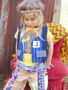 Custom Made Poor Pitiful Pearl Unisex Patchwork Kids Vest