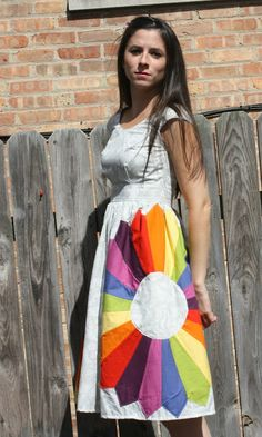 Pieced Dresden Plate Dress from Sew Sweetness - WOW! -Skye