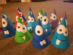 Lil Monster Party Hats - 1st Birthday