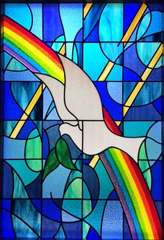 Dove Stained Glass Window Church of Christ Science Katglass.com
