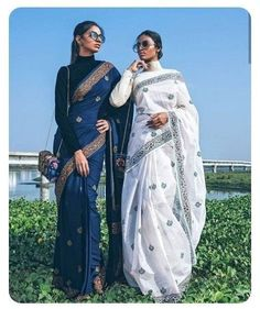 Out Most Stylish Blouse Designs For Cotton Saree Blouse Back Neck Designs, Blouse Designs, Sleeve Designs, Saree Draping Styles, Saree Styles, Indian Attire, Indian Ethnic Wear, Indian Wedding Outfits, Indian Outfits