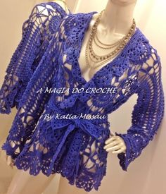A+MAGIA+DO+CROCHÊ+-+Katia+Missau:+Casaco+de+Crochê+-+Casaco+Osíris