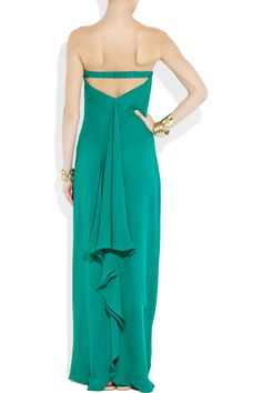 Turquoise Silk Gown...perfect for a romantic island dinner.