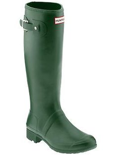 So my feet don't get wet and freeze! Hunter Original Packable Tour   Piperlime