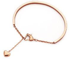 18k Gold Plated Bangle with Tiny Heart