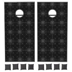 Third Dimensional Sacred Geometry Cornhole Set