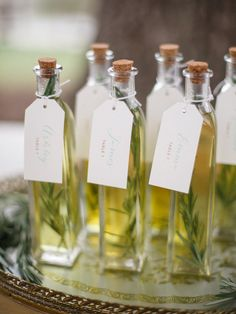 rosemary infused olive oil favors. could be cool since you're kind of a foodie and it would go with the theme kinda :)