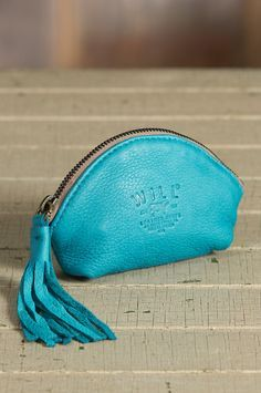 Will Blossom Deerskin Leather Coin Pouch (Turquoise)