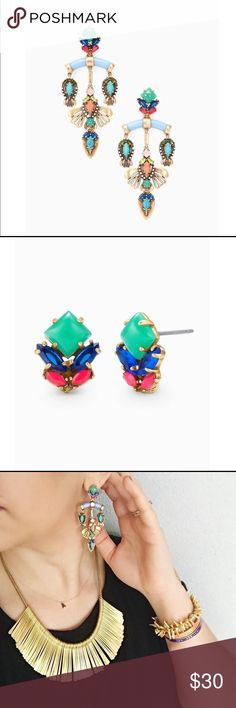 Cecily Chandelier Earrings~Stella & Dot~NEW Colorful versatile movement to brighten your day or night. Converts from a Chandelier to a Stud. These earrings are being retired so once they sell out on S&D web site they will be forever unavailable. Listed for $49 plus tax & shipping on S&D . ~Vintage Gold Finish ~ 2 3/4 length ~. Medium Weight   Please check out my other great items as I gladly bundle shipping to save you money. Thanks for looking . Stella & Dot Jewelry Earrings