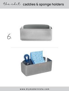 A very simple in-sink solution from a leading brand, this sink basket will keep the wet tools in the sink, and off the countertop. Pair this with your favorite two soap dispensers and you're done!  #kitchenorganization #kitchensinkcaddy #modernkitchen #kitchensinkorganizer