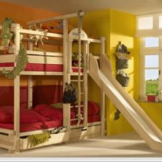 Awesome bunk beds - I so would have wanted the top bunk as a kid!