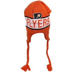 bd9ae565dbe Old Time Hockey Philadelphia Flyers Venture Uncuffed Ski-Knit Beanie -  Orange