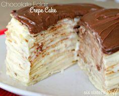 Chocolate Eclair Crepe Cake   Six Sisters' Stuff
