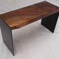Walnut & Steel Bench by Michael Heuser