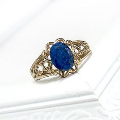 The ring that I hope to get! Lapis Lazuli with Italian Renaissance details.