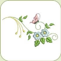 SDS0821 Dainty Flowers 2  Shown w/decorative font as embellishment