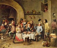David Teniers - The King Drinks