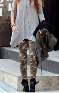 camo pants outfit with military boots - Google Search