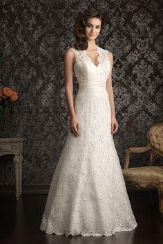 2013 Wedding Dresses Trumpet/Mermaid V Neck Court Train Lace Belt Zipper Up