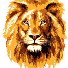 front face pre cut lion - lion vector PNG image with transparent background png - Free PNG Images Michael Banks, Lion Vector, Lion Mane, Face Design, Lions, Lion Sculpture, Clip Art, Art Prints, Artwork