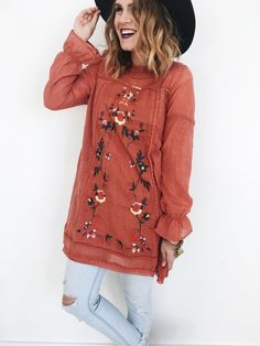 Rosewood Tunic in Rust | ROOLEE