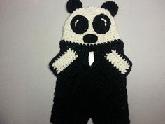 Paddy Panda Hat and Attached Scarf by JensNeedleKnows on Etsy, $30.00
