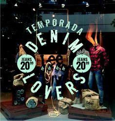 Temporada Denim Lovers  Windows display  Visual Merchandising