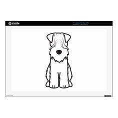 Softcoated Wheaten Terrier Dog Cartoon Laptop Decal