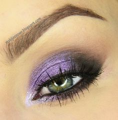 """Violet Evening Make-up. May we suggest #Stila's """"In the Moment"""" eyeshadow palette? Find it at Camera Ready Cosmetics"""