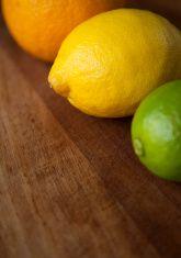 Three citrus fruits. stock photo