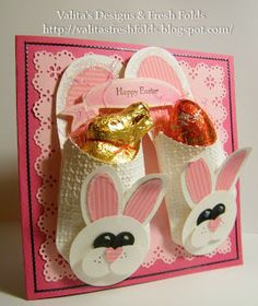 Valita's Designs & Fresh Folds: Making a Bunny face for your Pillow Box die Slippers